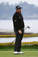 Shane Lowry (IRL) watches his tee shot on 18 during round 4 of the 2019 US Open, Pebble Beach Golf Links, Monterrey, California, USA. 6/16/2019.<br /> Picture: Golffile | Ken Murray<br /> <br /> All photo usage must carry mandatory copyright credit (© Golffile | Ken Murray)