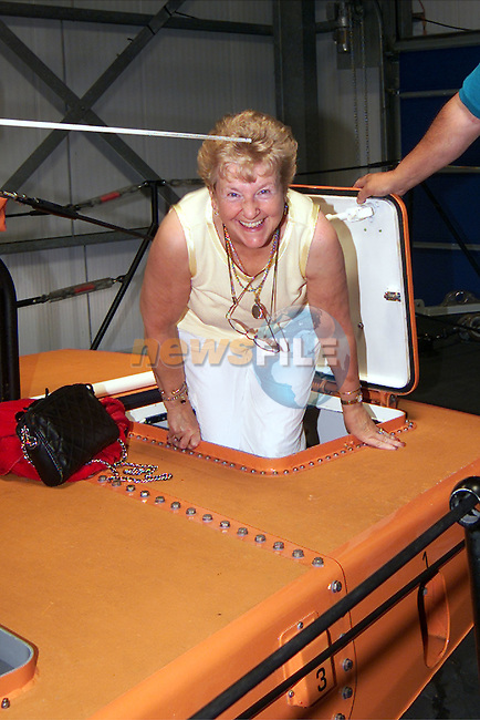Nuala Cummins from Slane on board Clogherhead lifeboat at the publicity launch on Sunday..Picture: Paul Mohan/Newsfile