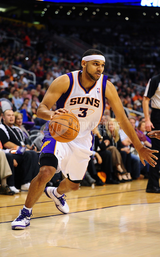 Jan. 26, 2011; Phoenix, AZ, USA; Phoenix Suns forward Jared Dudley against the Charlotte Bobcats at the US Airways Center. The Bobcats defeated the Suns 114-107. Mandatory Credit: Mark J. Rebilas-