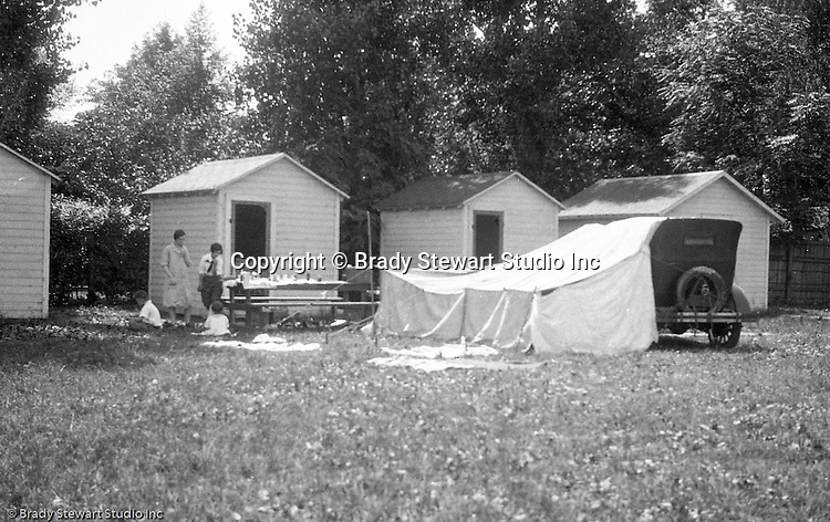 East Brady PA:  Stewart family at Scott's campground near East Brady - 1927.  Stayed overnight on the way to Lake Erie for family vacation