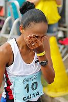 BELO HORIZONTE, MG, 07.12.2014 - XVI VOLTA INTERNACIONAL DA PAMPULHA - Joziane primeiro lugar no feminino durante XVI Volta Internacional da Pampulha neste Domingo, 07. Foto: Gustavo Theza / Brazil Phoro Press