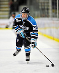 30 October 2010: University of Maine Black Bears' forward Klas Leidermark, a Sophomore from Gavle, Sweden, in action against the University of Vermont Catamounts at Gutterson Fieldhouse in Burlington, Vermont. The Black Bears defeated the Catamounts 3-2 in sudden death overtime. Mandatory Credit: Ed Wolfstein Photo