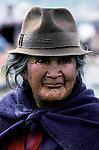 Old Local Andean Indian Woman, Latacunga, Ecuador, South America
