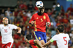 Georgia's Tsiskaraidze and Spain's Gererd Pique during the up match between Spain and Georgia before the Uefa Euro 2016.  Jun 07,2016. (ALTERPHOTOS/Rodrigo Jimenez)