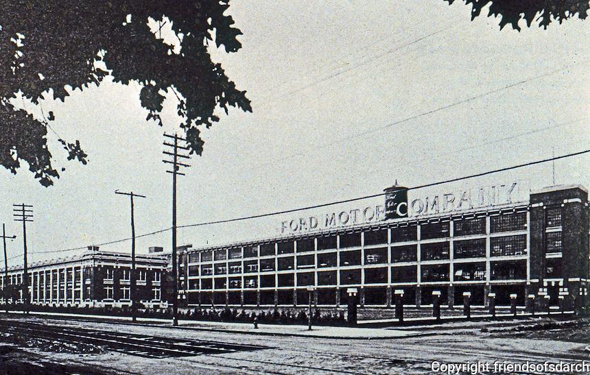 Albert Kahn: Highland Park, Woodward Ave. Elevation. Detroit MI.
