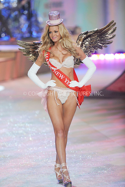 WWW.ACEPIXS.COM . . . . . .November 7, 2012...New York City....Erin Heatherton walks the runway during the 2012 Victoria's Secret Fashion Show at the Lexington Avenue Armory on November 7, 2012 in New York City ....Please byline: KRISTIN CALLAHAN - ACEPIXS.COM.. . . . . . ..Ace Pictures, Inc: ..tel: (212) 243 8787 or (646) 769 0430..e-mail: info@acepixs.com..web: http://www.acepixs.com .