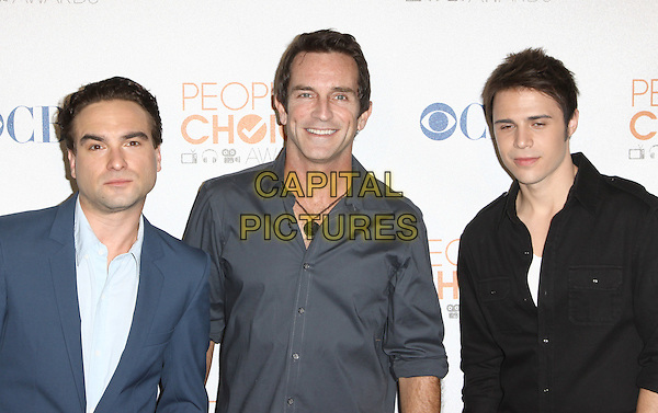JOHNNY GALECKI, JEFF PROBST & KRIS ALLEN.People's Choice Awards 2010 - Nomination Announcement Press Conference held At The SLS Hotel, Beverly Hills, California, USA..November 10th, 2009.half length black blue suit shirt .CAP/ADM/KB.©Kevan Brooks/AdMedia/Capital Pictures.