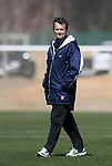 North Carolina head coach Anson Dorrance on Saturday, March 3rd, 2007 on Field 1 at SAS Soccer Park in Cary, North Carolina. The Duke University Blue Devils played the University of North Carolina Tarheels in an NCAA Division I Women's Soccer spring game.