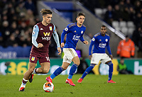 Aston Villa's Jack Grealish breaks <br /> <br /> Photographer Andrew Kearns/CameraSport<br /> <br /> The Premier League - Leicester City v Aston Villa - Monday 9th March 2020 - King Power Stadium - Leicester<br /> <br /> World Copyright © 2020 CameraSport. All rights reserved. 43 Linden Ave. Countesthorpe. Leicester. England. LE8 5PG - Tel: +44 (0) 116 277 4147 - admin@camerasport.com - www.camerasport.com