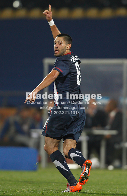 RUSTENBURG, SOUTH AFRICA - JUNE 12:  Clint Dempsey of the United States celebrates after scoring a goal against England during a 2010 FIFA World Cup soccer match June 12, 2010 in Rustenburg, South Africa.  NO mobile use.  Editorial ONLY.  (Photograph by Jonathan P. Larsen)