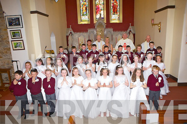 Celebrating their First Holy Communion were students from St Brigid's National School, pictured here last Saturday in St. Brigid's Church, Duagh.