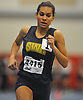 Katherine Lee of Shoreham-Wading River legs out a win in the girls 1,000 meter run during the Suffolk County winter track and field state qualifiers at Suffolk Community College Grant Campus in Brentwood on Monday, Feb. 12, 2018. She posted a time of 2:52.58.