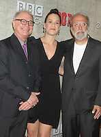 August 14, 2012 Barry Levinson,  Franka Potente,Tom Fontana, at a premiere of BBC America's Copper at the Museum of Modern Art in New York City. © RW/MediaPunch Inc.