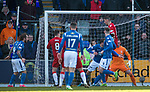 23.02.2020 St Johnstone v Rangers: Rangers fail to clear their lines and Stevie May scores