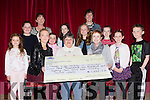 Joanna Hughes and Sheilann Moynihan along with the cast and crew of Snow White the children of Rathmore presenting a cheque of €1,682.77 to Betty Casey Friends of Chernobyl in Rathmore on Monday evening Aine Moriarty, Sheilanne Moynihan, Betty casey, Joanna Hughes, Ciara hughes, John Hughes. Back row: Laura phelan, Mary Moynihan, Clodagh O'Callaghan, Emily Redington, Muireann Hughes, Deidre Redington and Caoimhe Redington