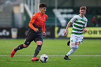 Pictured: Mason Jones-Thomas of Swansea City u19's in action during the FAW youth cup final between Swansea City and The New Saints at Park Avenue in Aberystwyth Town, Wales, UK.<br /> Wednesday 17 April 2019