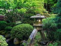 Japanese lantern.Portland Japanese Garden, Oregon
