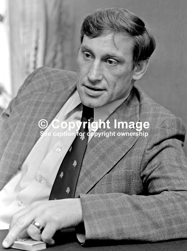 Willy John McBride, rugby international, Ireland, British Lions, Ballyclare, Co Antrim, N Ireland, 197501150030b<br />