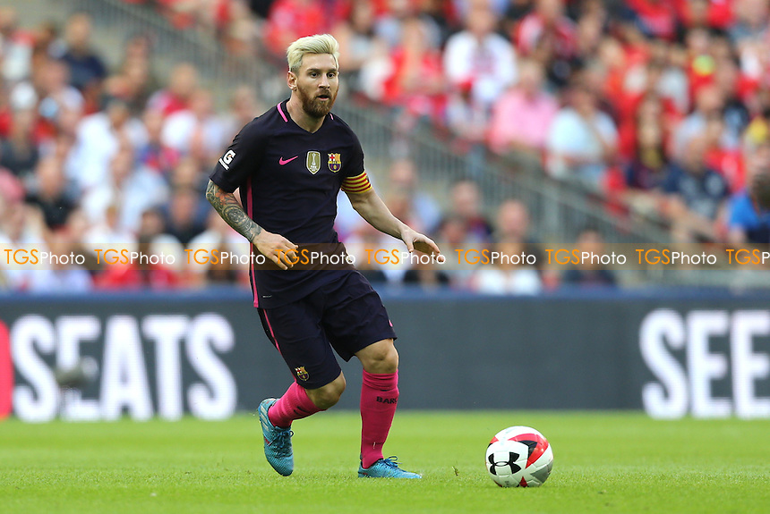 Lionel Messi of FC Barcelona during Liverpool vs FC Barcelona, International Champions Cup Football at Wembley Stadium on 6th August 2016
