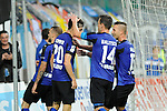 Jubel nach dem 1:0 von Waldhofs Jannik Sommer (Nr.20)  im Spiel SV Waldhof Mannheim - 1. FC Kaiserslautern II.<br /> <br /> Foto © P-I-X.org *** Foto ist honorarpflichtig! *** Auf Anfrage in hoeherer Qualitaet/Aufloesung. Belegexemplar erbeten. Veroeffentlichung ausschliesslich fuer journalistisch-publizistische Zwecke. For editorial use only.