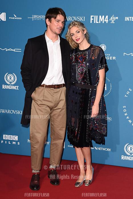 LONDON, UK. December 02, 2018: Josh Hartnett & Tamsin Eggerton at the British Independent Film Awards 2018 at Old Billingsgate, London.<br /> Picture: Steve Vas/Featureflash