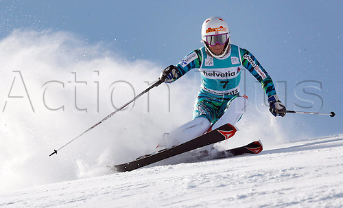 29.01.2012.  Ski Alpine FIS WC St Moritz Super Combination women  Ski Alpine FIS World Cup Super combination for women Slalom Picture shows Lotte Smiseth Sejersted NOR