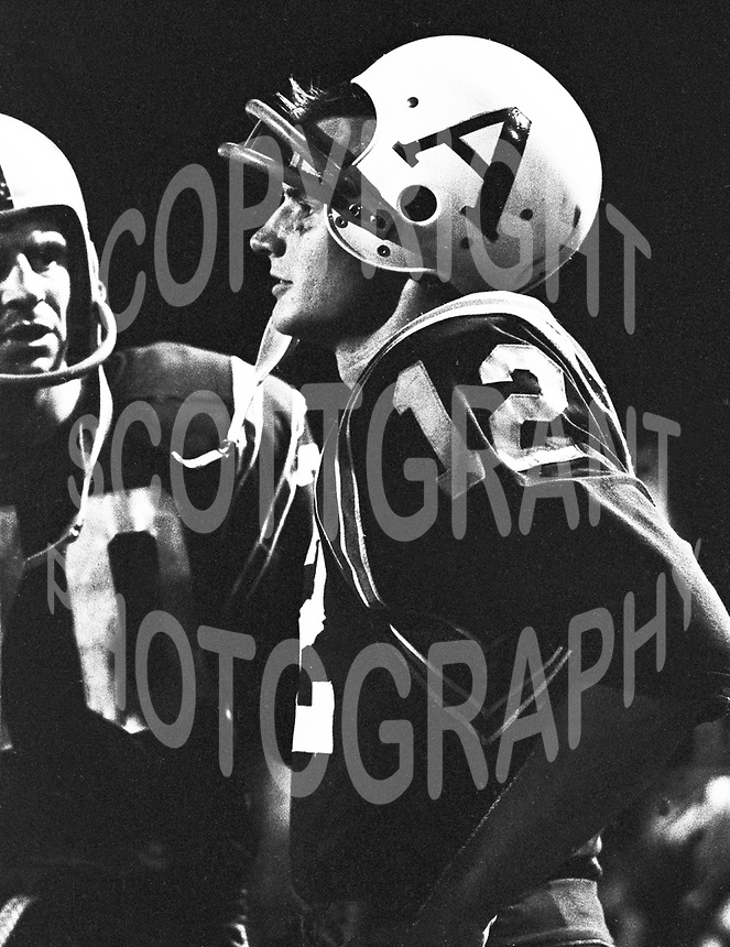 Wally Gabler Toronto Argonauts quarterback 1965. Copyright photograph Ted Grant