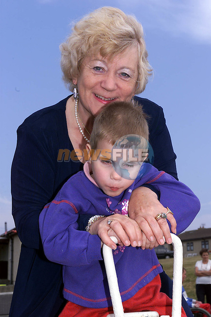 Isobel Sanroma with 7 year old Marshs Dannilenko who is Blind and Dumb. Chernobyl Group in Drogheda.Picture Fran Caffrey Newsfile