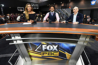 BROOKLYN, NY - DECEMBER 21: Sports broadcast commentators Kate Abdo, Shawn Porter and Ray Mancini attend the Fox Sports and Premier Boxing Champions official weigh-in for the December 22 Fox PBC Fight Night at the Barclay Center on December 21, 2018 in Brooklyn, New York. (Photo by Anthony Behar/Fox Sports/PictureGroup)