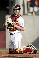 Robert Stock of the USC Trojans during a game against the Tulane Green Wave at Dedeaux Field on February 25, 2007 in Los Angeles, California. (Larry Goren/Four Seam Images)