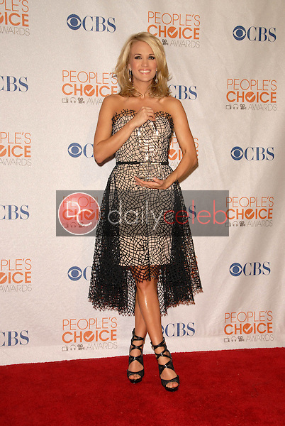 Carrie Underwood<br /> at the Press Room for the 2010 People's Choice Awards, Nokia Theater L.A. Live, Los Angeles, CA. 01-06-10<br /> David Edwards/Dailyceleb.com 818-249-4998