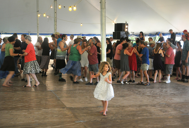 Activities in the Dance Tent at the Falcon Ridge Folk Festival, held on Dodd's Farm in Hillsdale, NY on Friday, July 31, 2015. Photo by Jim Peppler. Copyright Jim Peppler 2015.