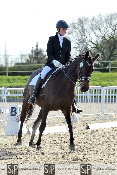 Class 7. Elementary 42. Brook Farm Summer Championships Qualifier,  Brook Farm points league and Trailblazers 1st round dressage. Brook Farm Training Centre. Essex. 11/04/2015. MANDATORY Credit Ellie Ingram/Sportinpictures - NO UNAUTHORISED USE - 07837 394578