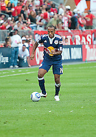 August 21 2010 New York Red Bulls forward Thierry Henry #14 in action during a game between the New York Red Bulls and Toronto FC at BMO Field in Toronto..The New York Red Bulls won 4-1.