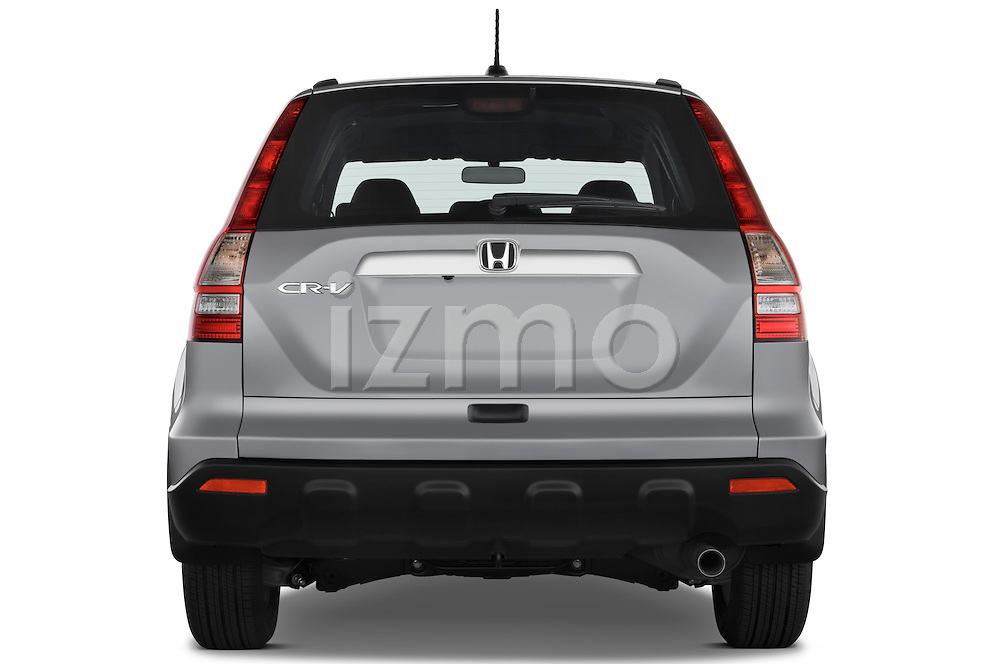 Straight rear view of a 2008 Honda CRV