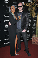 Eve (Eve Jihan Jeffers-Cooper) and Maximillion Cooper at the 2018 Gumball 3000 Rally launch party, Proud Embankment, Victoria Embankment, London, England, UK, on Saturday 04 August 2018.<br /> CAP/CAN<br /> &copy;CAN/Capital Pictures