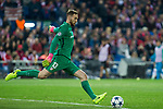 Jan Oblak of Atletico de Madrid during the match of Uefa Champions League between Atletico de Madrid and Bayer Leverkusen at Vicente Calderon Stadium  in Madrid, Spain. March 15, 2017. (ALTERPHOTOS / Rodrigo Jimenez)