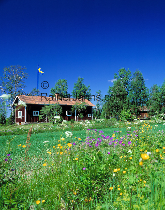 Sweden, Province Dalarna, Swedish wooden house | Schweden, Provinz Dalarna, Schwedisches Wohnhaus