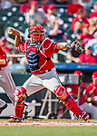24 February 2019: Washington Nationals catcher Pedro Severino in action during a Spring Training game against the St. Louis Cardinals at Roger Dean Stadium in Jupiter, Florida. The Nationals defeated the Cardinals 12-2 in Grapefruit League play. Mandatory Credit: Ed Wolfstein Photo *** RAW (NEF) Image File Available ***