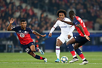 Willian of Chelsea and Boubakary Soumare of Lille OSC during Lille OSC vs Chelsea, UEFA Champions League Football at Stade Pierre-Mauroy on 2nd October 2019