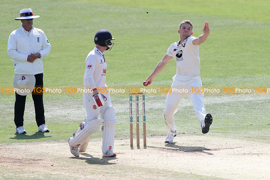 Matt Milnes in bowling action for Kent during Kent CCC vs Essex CCC, Specsavers County Championship Division 1 Cricket at the St Lawrence Ground on 20th August 2019
