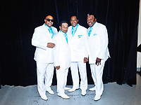 """05 October 2019 - Hamilton, Ontario, Canada.  The Drifters featuring Rick Sheppard, a member since 1966 backstage at """"What A Night - Living Legends"""" at the FirstOntario Concert Hall.  Photo Credit: Brent Perniac/AdMedia"""