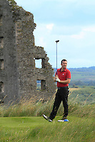 Mark Mullen (Wexford) on the 13th tee during Round 3 of The South of Ireland in Lahinch Golf Club on Monday 28th July 2014.<br /> Picture:  Thos Caffrey / www.golffile.ie