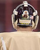 Ryan Coyne (MN - 31) - The University of Minnesota Golden Gophers practiced on Wednesday, April 9, 2014, at the Wells Fargo Center in Philadelphia, Pennsylvania during the 2014 Frozen Four.