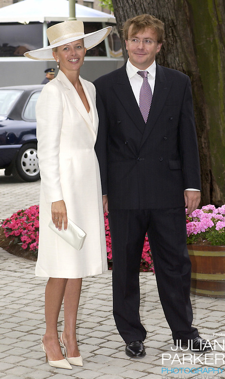 Prince Johan Friso & Princess Mabel attend the Christening of Crown Prince Willem-Alexander & Crown Princess Maxima of Holland's daughter Catharina-Amalia at the St. Jacobskerk Church in The Hague..