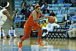 03 January 2016: Clemson's Nelly Perry. The University of North Carolina Tar Heels hosted the Clemson University Tigers at Carmichael Arena in Chapel Hill, North Carolina in a 2015-16 NCAA Division I Women's Basketball game. UNC won the game 72-56.