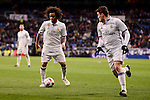 Real Madrid's Marcelo and Mateo Kovacic during Copa del Rey match between Real Madrid and Celta de Vigo at Santiago Bernabeu Stadium in Madrid, Spain. January 18, 2017. (ALTERPHOTOS/BorjaB.Hojas)