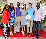 "COCONUT GROVE, FL - MARCH 30: Marchet McWhite; Yvonne Mccormack Lyons; BaBa Adekemi Lyons; Cecilia Peck; Harper Peck and Camilo Layne attend the Women's International Film Festival 2014 - Brunch and the screening of ""Brave Miss World"" also received the awards for the best films of the festival on March 30, 2014 in Coconut Grove, Florida. (Photo by Johnny Louis/jlnphotography.com)"