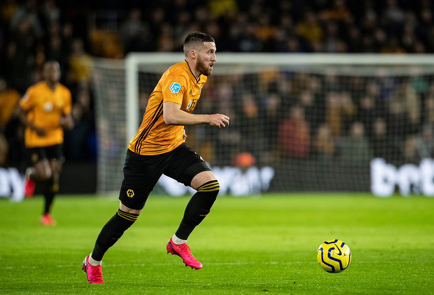 Leicester City's Matt Doherty breaks <br /> <br /> Photographer Andrew Kearns/CameraSport<br /> <br /> The Premier League - Wolverhampton Wanderers v Leicester City - Friday 14th February 2020 - Molineux - Wolverhampton<br /> <br /> World Copyright © 2020 CameraSport. All rights reserved. 43 Linden Ave. Countesthorpe. Leicester. England. LE8 5PG - Tel: +44 (0) 116 277 4147 - admin@camerasport.com - www.camerasport.com