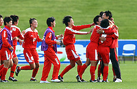 Korea DPR celebrate their win. FIFA U17 Women's World Cup Final, USA v Korea DPR, Albany Stadium, Auckland, New Zealand, Sunday 16 November 2008. Photo: Renee McKay/PHOTOSPORT
